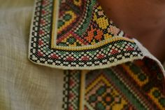 Traditional embroidered shirt for man