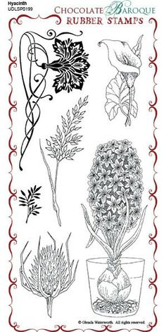 Hyacinth Unmounted Rubber Stamp Sheet - DL