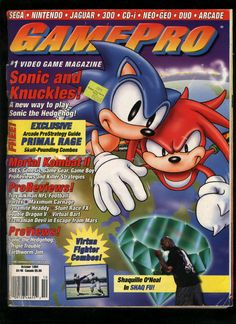 94' GamePro: Sonic & Knuckles issue Gaming Magazines, Video Game Magazines, Old Nintendo, Play Sonic, Sonic & Knuckles, My Magazine, Retro Video Games, Arcade Games, Videogames