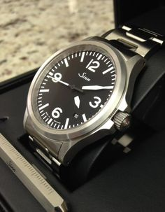 Up for sale is my recently purchased Sinn The watch was purchased last month from Watchbuys and is in immaculate condition. It is a beautiful Men's Watches, Luxury Watches, Watches For Men, Sinn Watch, Dry Goods, Beautiful Watches, Vintage Inspired, Bracelet Watch, Mens Fashion