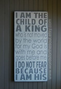 I am HIS I am The Child of a KING  NURSERY Christian God Typography   Art Wooden Sign Painting