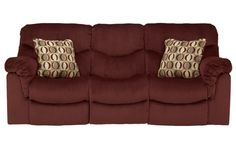 """Available Colors :   Chocolate   Burgundy  Taking comfort to the next level, The """"Motivation-Burgundy"""" upholstery collection features the softest upholstery fabric wrapped snuggly around thick padded arms and beautifully formed chaise seating to take the idea of contemporary styling and create relaxing furniture that you can really sink into."""