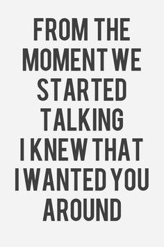 Desde el primer momento supe que te quería junto a mí \ Frases de amor romanticas