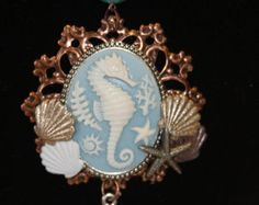 Popular items for seahorse cameo on Etsy