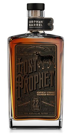 Orphan Barrel Distilling Lost Prophet Bourbon 22 Year - Kentucky, United States (Out of stock) Bourbon Whiskey, Whiskey Distillery, Bourbon Drinks, Scotch Whiskey, Rare Whiskey, Alcohol Bottles, Liquor Bottles, Bourbon Kentucky, The Distillers
