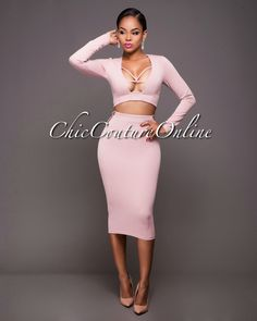 Chic Couture Online - Evita Blush Cut-Out Accents Two Piece Set.(http://www.chiccoutureonline.com/evita-blush-cut-out-accents-two-piece-set/)