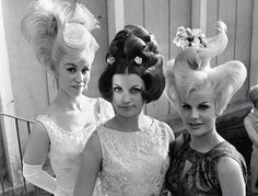 Hairstyles featured in a German Hair show 1964