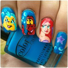 Little Mermaid nails !!!  ♥ - @polisheddayyys