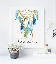 Hey, I found this really awesome Etsy listing at https://www.etsy.com/listing/272369800/blue-dreamcatcher-dream-printable-tribal