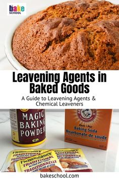 If you've ever wondered what makes a cake rise, here's a detailed list of all the leavening agents and techniques that you can use to make desserts lighter, cakes fluffier, and give breads a better texture, from chemical leaveners like baking soda and baking powder, yeast, eggs, cream, butter, and even steam! Baking Hacks, Baking Tips, Baking Recipes, Recipe With Baking Soda, Homemade Croissants, Baking Science, Cream Butter, Sponge Cake Recipes