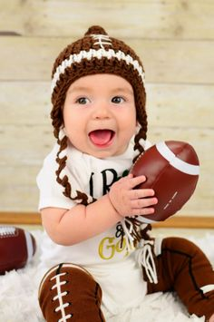 Football Beanie - Sports Photo Prop