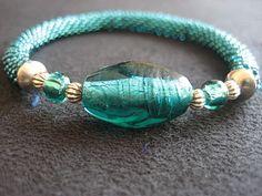 Tubular crochet bracelet.