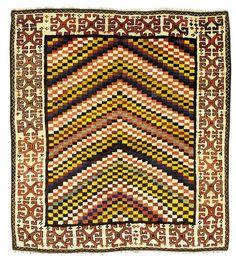 Oriental Rugs: Zakatale Yatak Gendje Region Rug  ZAKATALE YATAK  Origin: Central Caucasus, Gendje Region, late 19th century  Size: approx. 196 x 179 cm