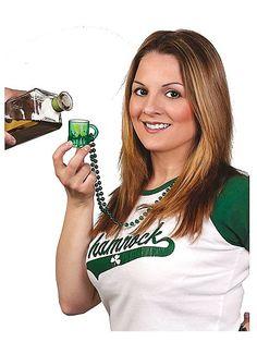 Mini Beer Mug St. Patrick's Day Shot Necklace