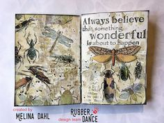 This is so cool and adorable! Video tut on the blog post. Lovely combination of printed images and stamps. Love the size of this art journal - I'm used to making cards about that size, so perhaps a AJ this size would be easier for us card makers to start journalling :)