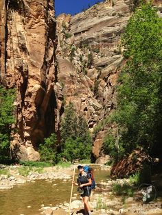 Hiking the Narrows - Zion National Park, UTAH