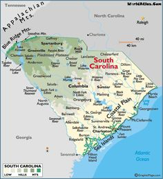 Sc Beaches Map Of South Carolina Beaches South Carolina Coast