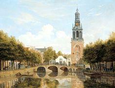 Singel met Jan Rodenpoortstoren. Hendrik Gerrit ten Cate 1829