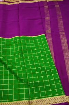 Details Mysore silk saree are world renowned saree. Karnataka, silk is mainly produced in the... Crepe Silk Sarees, Silk Dupatta, Silk Crepe, Green Fabric, Silk Fabric, Mysore Silk Saree, Karnataka, Color Schemes, Pure Products