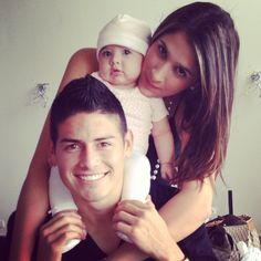 New Real Madrid Family! James Rodriguez, his wife Daniela Ospina and their sweet daughter Salome Rodriguez :)