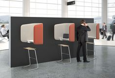 IBOOTH features an innovative enclosure designed to provide privacy in a public spaces. Offering both sound dampening and solitude without obstructing visibility to the surrounding space. A small footprint allows iBooth to be easily placed in lobbies, passing through public and semi public areas. Ideal locations include collaborative and common areas, connecting corridors, lobbies, and public and private spaces. Visit our website, http://www.peterpepper.com/ibooth to learn more about IBOOTH.