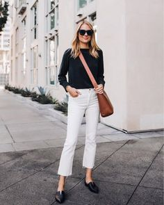 27 Stylish and Cute Spring Fashion Trends for Girls # # Outfit Outfit Jeans, Mens Casual Dress Outfits, White Pants Outfit, Heels Outfits, Jean Outfits, Cropped Jeans Outfit, Spring Fashion Trends, Winter Fashion, Crop Top Blanc