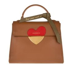 Coccinelle Tasche – B14 In Love Satchel Brown – in braun – Henkeltasche für Damen