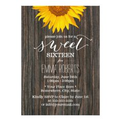 country themed sweet 16 invitations - Google Search