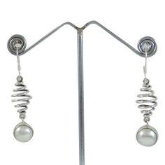 925 Sterling Silver Pearl Edelstein Ohrringe baumeln Set India Fashion Schmuck…