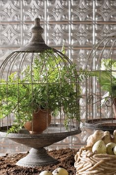 32 Ideas Vintage Bird Cage Ideas Home Decor Garden Art, Home And Garden, Ideas Vintage, Deco Floral, Vintage Birds, French Vintage, Patio Table, Home And Deco, Bird Houses