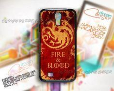 Fire and Blood Targaryen - Print On Hard Case Samsung Galaxy S4 i9500
