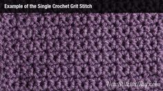 Example of the Single Crochet Grit Stitch