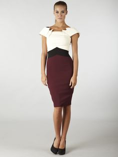 Hybrid Boston Dress Cream with Black and Oxblood Red £45.00