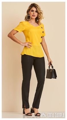 LOOK BOOK 10 – Cora Canela Simple Outfits, Cute Outfits, Fashion Outfits, Womens Fashion, Fashion Trends, Retro Look, Madame, Baby Dress, Blouse Designs