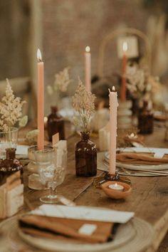 Floral Wedding, Rustic Wedding, Wedding Flowers, Fall Wedding Table Decor, Boho Wedding Decorations, Wedding Table Settings, Wedding Tables, Natural Wedding Decor, Fall Table Settings