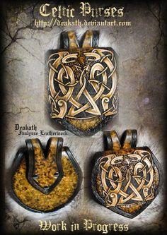 Celtic Male armor : purses by Deakath.deviantart.com on @deviantART