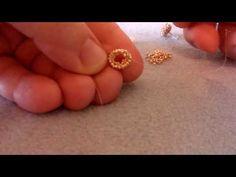 Orecchini daisy (a lobo) miyuki, toho, cabochon 6mm retro piatto - YouTube