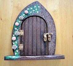 Fairy Door fairy faerie fae pixie elf by CrystalFairArt on Etsy