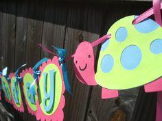 Girl Turtle Birthday Banner by LindseysPartyPantry on Etsy, $24.00