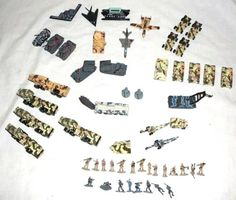 MICRO-MACHINES-MILITARY-LOT-of-55-Vehicles-Soldiers-Accessories-Galoob-LGTI