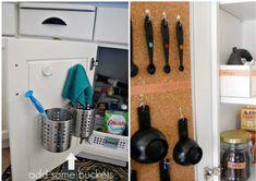 26 simple yet wonderful ideas for your interior - DIY Craft Projects Kitchen Organization, Storage Organization, Kitchen Cabinets Parts, Spice Shelf, Mini Bars, Ideas Hogar, Ideas Geniales, Home Hacks, Beach Themes