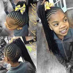 STYLIST FEATURE| Such a cute kids style @hairbyminklittle | #kidshair #braids #flattwist #atlhair #voiceofhair