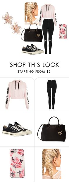 """kenya"" by mckaylagremillion on Polyvore featuring Topshop, Converse, Michael Kors, Kate Spade and NAKAMOL"