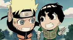 Uzumaki Naruto and Rock Lee - if you look up intense in the dictionary, you'll likely see these two in the illustration.