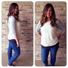 Market & Spruce Bernadette Lace Overlay Raglan Top $58 via Learning at His Feet: How I Got My Perfect Stitch Fix on Round 2