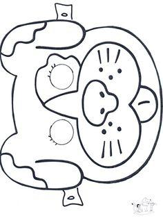 printable animal masks monkey mask printable monkey mask color