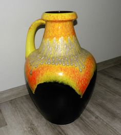Giant Bay-Keramik Ceramic Vase Seventies Mid by ModernistBerlin