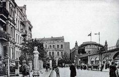 """Berlin, """"Das alte Hansaviertel mit Bahnhof Bellevue"""", 1910"""