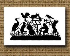 Handmade-paper-cut-cutting-Scherenschnitte-silhouette-craft-folk-art-ANIMAL-BAND