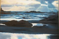 Tofino Beach, Vancouver Island. Painted in oils 2011. 16 x 20